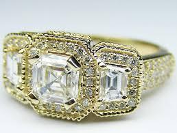 asscher cut diamond engagement rings engagement ring asscher cut diamond vintage style engagement ring