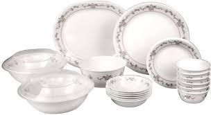 Buy Corelle Dinner Set Online India Corelle Imperial Pack Of 30 Dinner Set Price In India Buy