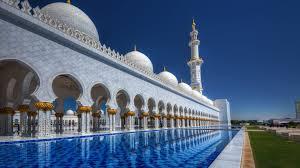 sheikh zayed grand mosque in abu dhabi capital of the united arab