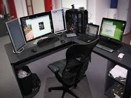 Cool L Ideas   cool computer desk ideas wonderful custom l shaped computer desk