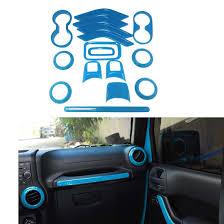 jeep blue interior car light blue interior auto trim 16x for jeep wrangler cab 4 door