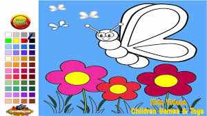 flower butterfly coloring pages kids flower