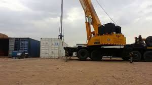crane lifting container youtube