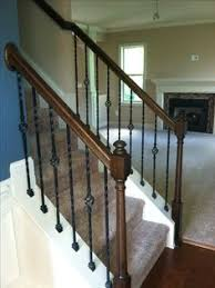 Replacing Banister Spindles Stair Makeover U2013 Replacing Wood Balusters With Wrought Iron