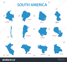 Map Of Chile South America by South America Vector Maps Countries Stock Vector 260656019