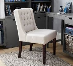 Dining Chairs In Living Room Sorrel Tufted Upholstered Dining Chair Pottery Barn
