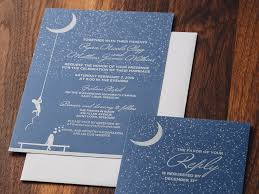 wedding invitation ideas blue letterpress wedding invitations