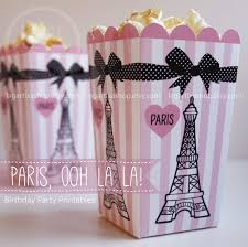 eiffel tower favors popcorn boxes ooh la la eiffel tower pink and black
