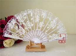 lace fans 2018 lace roses cloth fans plastic folding fan
