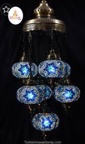 Mosaic Chandelier Turkish Ottoman 7 Piece Of Mosaic Chandelier Mosaic Turkish Lamps