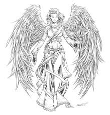 drawn demon body pencil and in color drawn demon body