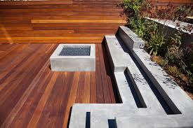 san francisco modern fire pits deck with wood decking contemporary