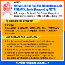 sample resume for experienced assistant professor in engineering college jobs in mit college of railway engineering and research vacancies paperthumb