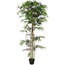 best choice products 7 ft decorative artificial tree bamboo plant