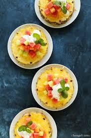 fruit salads for thanksgiving pineapple fruit salad with honey vanilla bean yogurt dressing