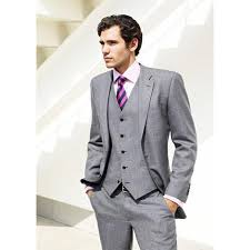 mens light gray 3 piece suit light gray groom mens suit tuxedo notched lapel wedding suits for