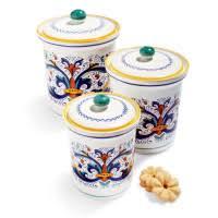 italian canisters kitchen deruta pasta serve bowl sur la table