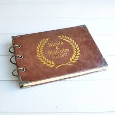 personalized leather guest book buy gold guest book and get free shipping on aliexpress