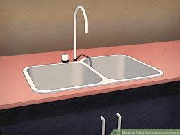 How To Paint Formica Countertops With Pictures WikiHow - Kitchen sink paint