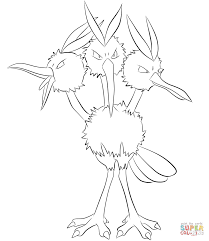 dodrio coloring page free printable coloring pages