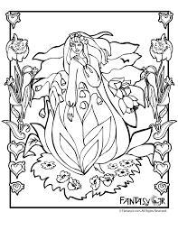 flower fairy coloring page 5 woo jr kids activities