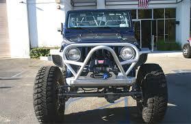 jeep bumper grill tj lj boulder stinger grill guard front bumper steel genright