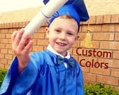 toddler cap and gown items similar to custom color toddler and baby graduation cap and