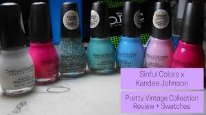 sinful colors x kandee johnson pretty vintage collection review
