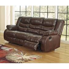 Brown Leather Recliner Sofa Ashley Linebacker Leather Reclining Sofa In Espresso Walmart Com