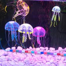 soft colorful silicon fluorescent floating glowing jellyfish