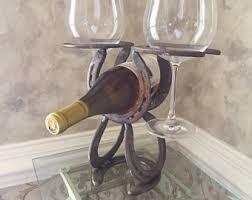 horseshoe wine rack etsy