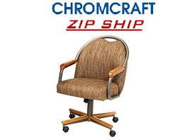 Chromcraft Furniture Kitchen Chair With Wheels Chromcraft Chair On Wheels Medium Oak Cm 188 Zip Ship Kitchen