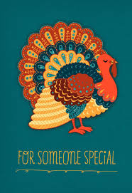 turkey on teal background thanksgiving card shop all cards