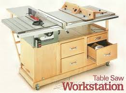 table saw station plans table saw workstation plans table saw tips jigs and fixtures