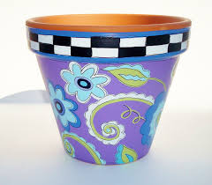 flower pot designs paint 23 awesome exterior with nice hand