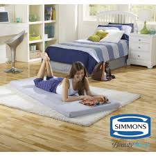 Floor Up by Simmons Beautysleep Siesta Twin Memory Foam Guest Roll Up Mattress