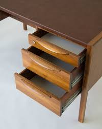 Leather Desk Organizer by Jens Risom Walnut Desk With Leather Writing Surface U2013 Den Møbler