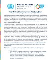 united nations private sector forum 2017 un global compact