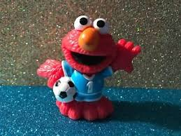 elmo cake topper sesame pvc 1 soccer player elmo cake topper figure ebay