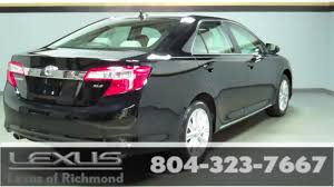 toyota lexus pre owned 2012 toyota camry xle pre owned at lexus of richmond youtube