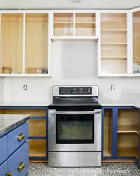 blue bottom and white top kitchen cabinets how to build cabinets houseful of handmade
