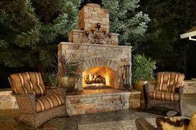 Backyard Fireplace Ideas Sleek Outdoor Fireplace Designs Kitchentoday