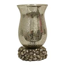 Uplight Table Lamp Shop Decor Therapy 10 5 In Silver Leaf Electrical Outlet Uplight