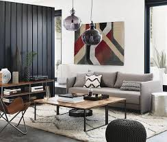 designs ideas living room with gray sofa and industrial coffee