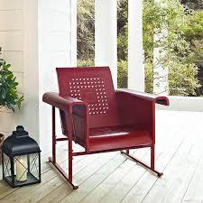 Outdoor Single Glider Chair Veranda Metal Retro Single Chair Glider Improvements Catalog