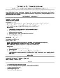 free basic resume template resumes examples examples of resumes