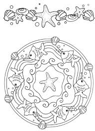mandala coloring pages beautiful ocean mandala coloring pages of