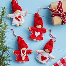 red and white mini christmas tree decoration by the christmas home