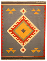 Southwestern Throw Rugs Handmade Wool Blue Keysari Kilim Rug Southwestern Area Rugs
