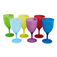 colored plastic wine glasses set of 6 christmas tree shops andthat